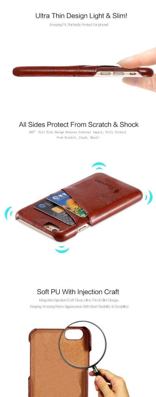 dd381536b37 Funda y tarjetero de piel para iPhone   soloiPhone